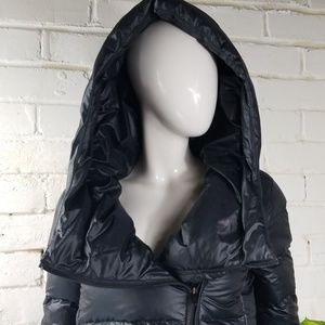 Nike Goose Down Long Hooded Puffer Coat Damaged XS